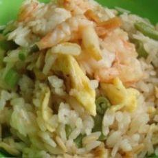 虾仁蛋炒燕麦饭的做法