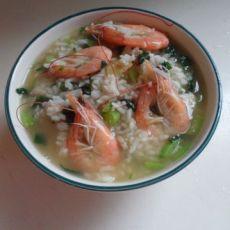 鲜虾青菜泡饭