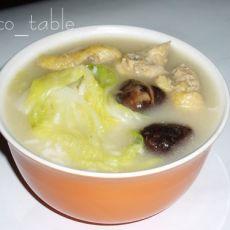 冬菇滑鸡汤饭的做法