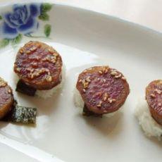 紫薯紫菜饭团的做法