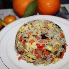 洋葱榄菜炒饭的做法