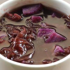 黑米紫薯银耳粥