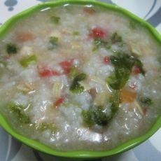 鸡肉蔬菜粥