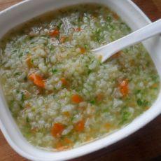 大米青菜粥的做法