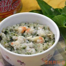 虾仁菜肉粥