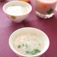 火腿香菜粥