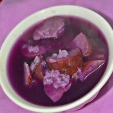 紫薯糯米粥的做法