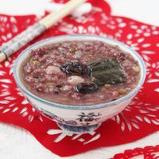 荷叶什锦紫米粥