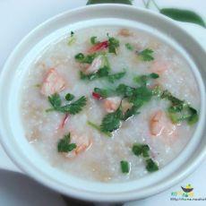 沙虾冬菜砂锅粥