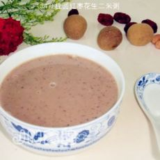 桂圆红枣花生二米粥