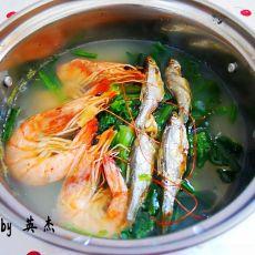 海鲜粥小锅
