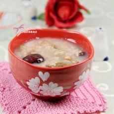 红枣花生红米粥