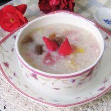 月季花桂圆糯米粥