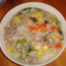 生菜玉米萝卜肉粥