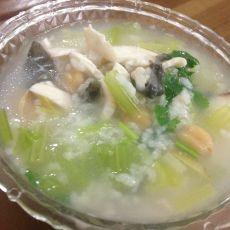 香芹鱼片粥
