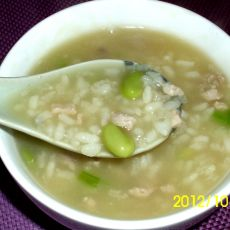 瘦肉青豆粥