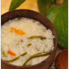 海带大米粥的做法