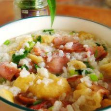腊肠油条香米粥