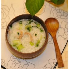 鸡肉青菜粥