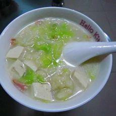 豆腐火腿粥的做法