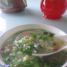 青菜瘦肉杂粮粥的做法