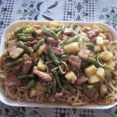 豆角土豆焖面的做法