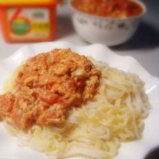 西红柿鸡蛋炸酱面的做法