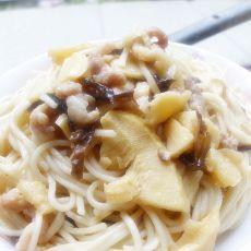 香菇冬笋肉丝炒面
