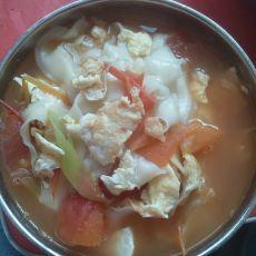 鸡蛋西红柿面的做法