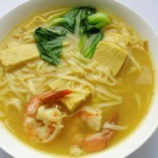 咖喱鲜虾面