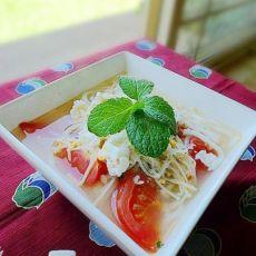 鸡蛋番茄乌冬汤面的做法