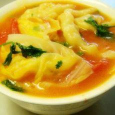 番茄包菜煮面鱼