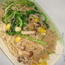 鲜蔬炒米粉