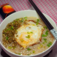 鸡蛋汤米粉的做法