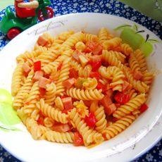 番茄香肠螺丝粉