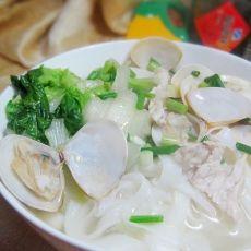 鲜美蛤蜊汤河粉