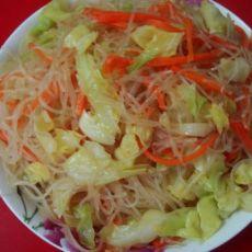 杂菜拌米粉的做法