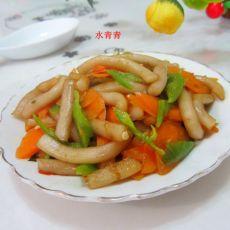 红萝卜片炒粉