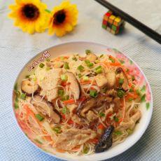 香菇瘦肉蒸米粉的做法