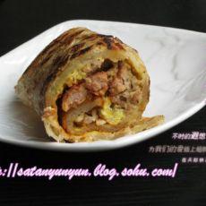 夏日中式早餐--手抓饼(附牛肉扒做法)