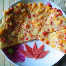 火腿玉米粒早餐饼