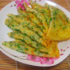 青菜鸡蛋饼的做法