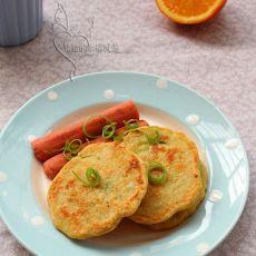 葱花豆渣饼的做法
