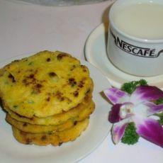 豆渣玉米面饼