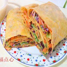 蔬菜沙拉玉米煎饼