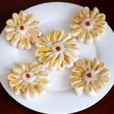 红薯菊花饼