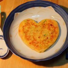 西葫芦番茄蛋饼