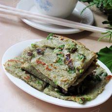 营养早餐轻松做---葱香豆渣饼的做法