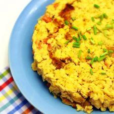 火腿芝士蛋豆渣饼的做法