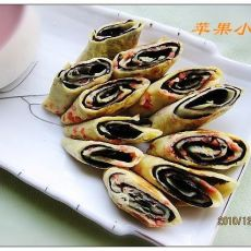 海苔卷饼的做法